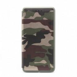 Futrola za iPhone X/XS preklop bez magneta bez prozora Defender Military bi fold - crna