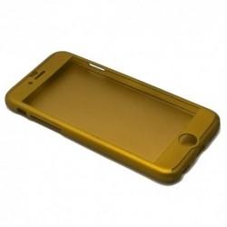Futrola za iPhone 6 Plus/6s Plus preklop bez magneta sa prozorom PVC Full protect - zlatna