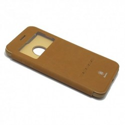 Futrola za iPhone 7 Plus/8 Plus preklop bez magneta sa prozorom Baseus simple leather - braon