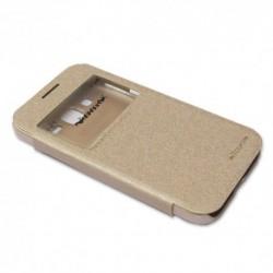 Futrola za Samsung Galaxy Core Prime preklop bez magneta sa prozorom Nillkin sparkle - zlatna