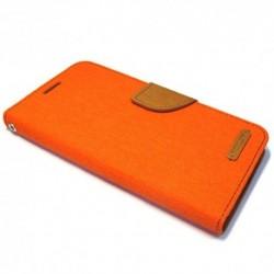 Futrola za Samsung Galaxy Note 5 preklop sa magnetom bez prozora Mercury Canvas - narandžasta