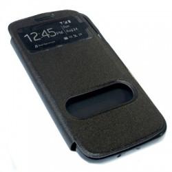 Futrola za Samsung Galaxy S4 preklop bez magneta sa prozorom Comicell silikon - crna
