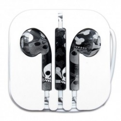 Slušalice bubice za iPhone - lobanja