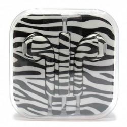 Slušalice bubice za iPhone - zebra