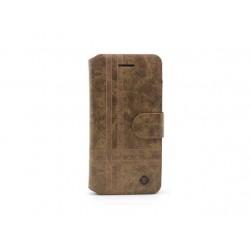 Futrola za Samsung Galaxy S3 preklop sa magnetom bez prozora Teracell Vogue Stripe - braon