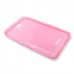 Futrola za Sony Xperia E4g leđa Ultra tanki silikon - pink