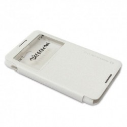 Futrola za Sony Xperia E4 preklop bez magneta sa prozorom Nillkin sparkle - bela