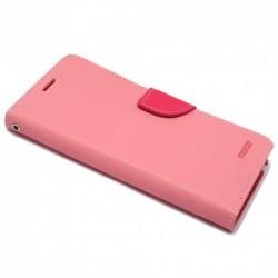 Futrola za Sony Xperia M4 Aqua preklop sa magnetom bez prozora Mercury - roza