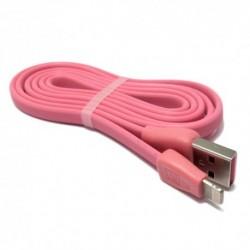 USB kabal za iPhone 5/5C/SE/6/6+/7/7+ Remax Martin 1 m - roza