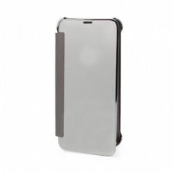 Futrola za iPhone X/XS preklop bez magneta bez prozora See Cover - srebrna