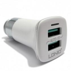 Auto punjač za iPhone Ldnio C301 (3,6 A) - bela