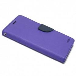 Futrola za HTC U Play preklop sa magnetom bez prozora Mercury - ljubičasta
