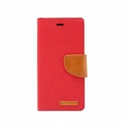 Futrola za iPhone 7 Plus/8 Plus preklop sa magnetom bez prozora Mercury canvas - crvena
