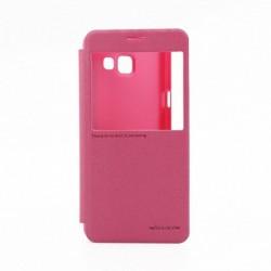 Futrola za Samsung Galaxy A5 (2016) preklop bez magneta sa prozorom Nillkin sparkle - pink