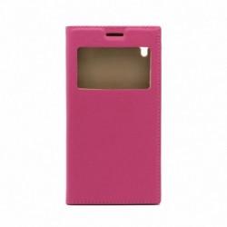 Futrola za Sony Xperia M4 Aqua preklop bez magneta sa prozorom Vogue view - pink