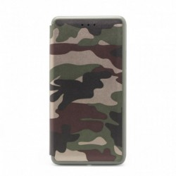 Futrola za Nokia 6 preklop bez magneta bez prozora Defender Military - crna