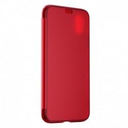 Futrola za iPhone X/XS preklop bez magneta bez prozora Baseus Touchable - crvena