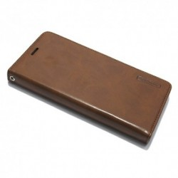 Futrola za iPhone X/XS preklop bez magneta bez prozora Mercury model 1 - braon
