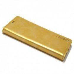 Futrola za Samsung Galaxy S8 preklop bez magneta bez prozora Mercury model 1 - zlatna