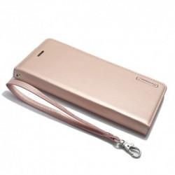 Futrola za Nokia 8 preklop bez magneta bez prozora Hanman - svetlo roza