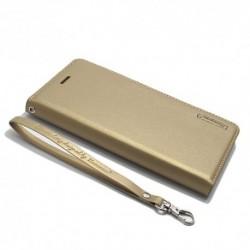 Futrola za Nokia 8 preklop bez magneta bez prozora Hanman - zlatna