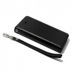 Futrola za iPhone 5/5s/SE preklop bez magneta bez prozora Hanman - crna