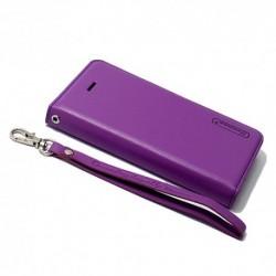 Futrola za iPhone 5/5s/SE preklop bez magneta bez prozora Hanman - ljubičasta