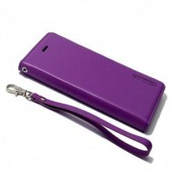 Futrola za iPhone 6/6s preklop bez magneta bez prozora Hanman - ljubičasta