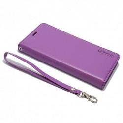 Futrola za iPhone X/XS preklop bez magneta bez prozora Hanman - ljubičasta
