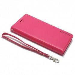 Futrola za iPhone X/XS preklop bez magneta bez prozora Hanman - pink