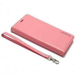 Futrola za iPhone X/XS preklop bez magneta bez prozora Hanman - roza