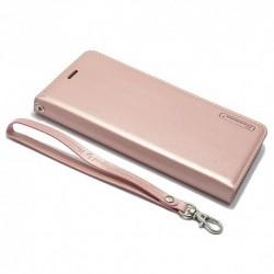 Futrola za iPhone X/XS preklop bez magneta bez prozora Hanman - svetlo roza