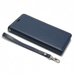 Futrola za iPhone X/XS preklop bez magneta bez prozora Hanman - teget