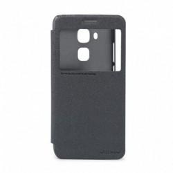 Futrola za Huawei Nova Plus preklop bez magneta sa prozorom Nillkin sparkle - crna