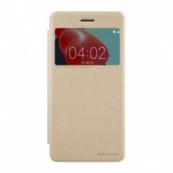 Futrola za Nokia 6 preklop bez magneta sa prozorom Nillkin sparkle - zlatna