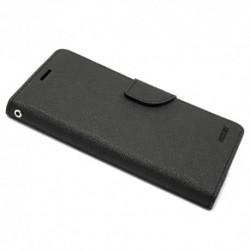 Futrola za iPhone X/XS preklop sa magnetom bez prozora Mercury Canvas - crna