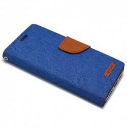 Futrola za iPhone X/XS preklop sa magnetom bez prozora Mercury Canvas - plava