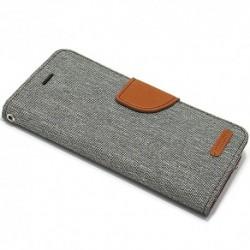 Futrola za iPhone X/XS preklop sa magnetom bez prozora Mercury Canvas - siva