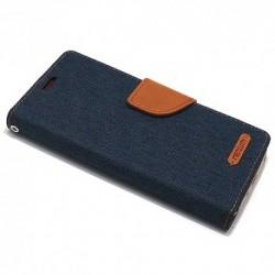 Futrola za iPhone X/XS preklop sa magnetom bez prozora Mercury Canvas - teget