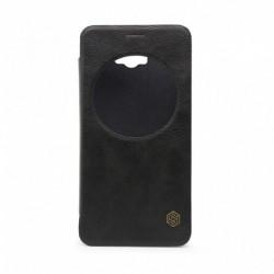 Futrola za Asus Zenfone Max ZC550KL preklop bez magneta sa prozorom Nillkin Qin - crna