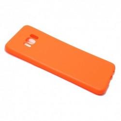 Futrola za Samsung Galaxy S8 leđa Ultra tanki kolor - narandžasta