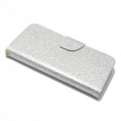 Futrola za iPhone 5/5s/SE preklop sa magnetom bez prozora Glitter - srebrna