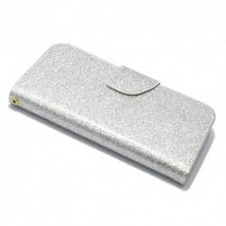 Futrola za iPhone 6/6s preklop sa magnetom bez prozora Glitter - srebrna