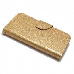 Futrola za iPhone 6/6s preklop sa magnetom bez prozora Glitter - zlatna