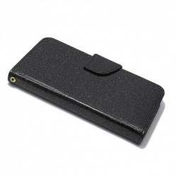 Futrola za iPhone X/XS preklop sa magnetom bez prozora Glitter - crna
