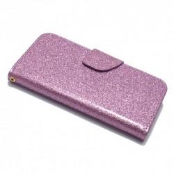 Futrola za iPhone X/XS preklop sa magnetom bez prozora Glitter - ljubičasta
