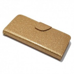 Futrola za iPhone X/XS preklop sa magnetom bez prozora Glitter - zlatna