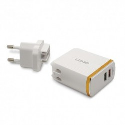 Kućni punjač iPhone Ldnio A2502Q (2,4 A   2xUSB) - bela