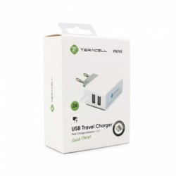Kućni punjač iPhone Teracell Prime (2 A | 2xUSB) - bela