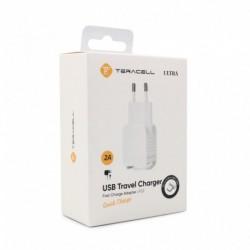 Kućni punjač Android micro Teracell Ultra LP02 (2 A | 2xUSB) - bela